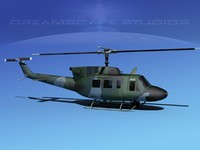 uh1-n bell uh-1n helicopter 3d model