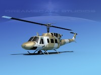 3d uh1-n bell uh-1n helicopter model