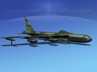 3d model of stratofortress boeing b-52 bomber