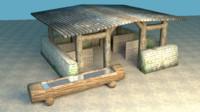 Big medieval stable