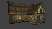 pack farm house medieval 3d 3ds