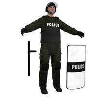 3d max riot police officer