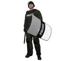 3dsmax rigged riot police officer
