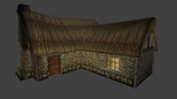 3d pack farm house medieval model