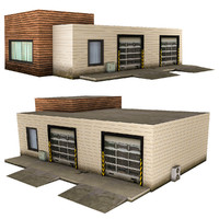 realistic service building games 3d model