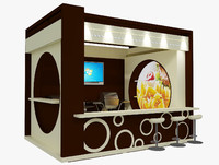 booth stand 3d model