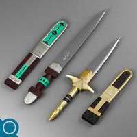 free tuareg daggers 3d model