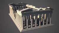 3d parthenon temple acropolis model