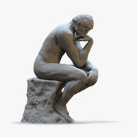 The Thinker (Rigged for Animation)