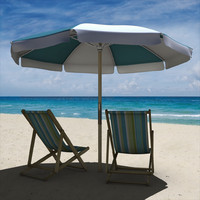 beach chair umbrella 3d obj