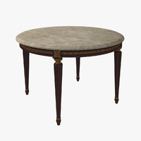 3d french louis xvi dining table