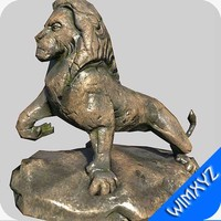 3d lion sculpture
