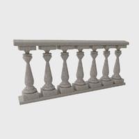 ballustrade pillars 3d model