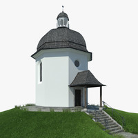 silent night chapel 3d model