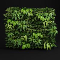 green wall module 3d model