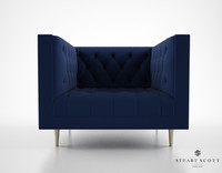 3d model stuart scott flux armchair
