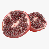 pomegranate cross section 3d 3ds