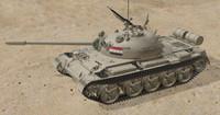 iraqi tank t55 3d model