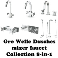 3d model gro welle mixer faucet