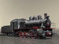 3d model of locomotive series em steam