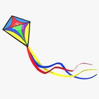 kite modeled 3d obj