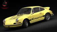 3d model porsche 911 carrera 1973