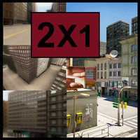 3d model city scenes pack golden