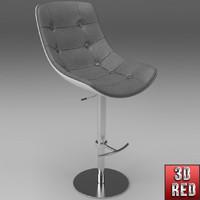 free bar stool 3d model