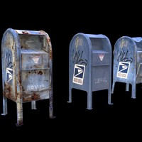 mailboxes damage 3d model