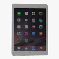 3d ipad air 2 gold