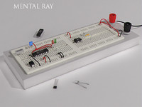 3d model electronics project board