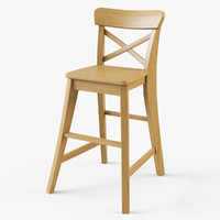 3d model junior chair ikea ingolf