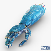 bio robotic hand 3d model