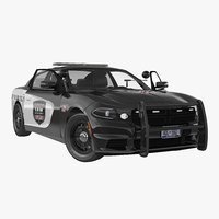 generic police car rigged 3d model