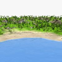 island tree palm 3d max