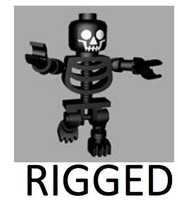 3d lego skeleton rigged model