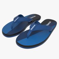 3ds max reebok flip flops