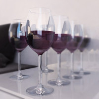 3d model glasses red wine