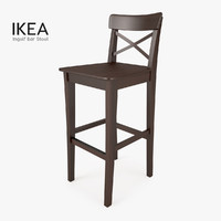 3d model ikea ingolf bar stool