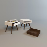 3d wood bedside table