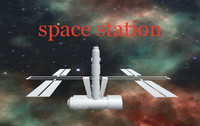 3ds max space station