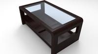 Glass 3D Table Model
