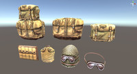 soldier accessories helmet 3d max