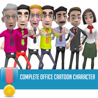 human characters man cartoon 3d model