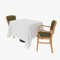 table chair sets 3d max