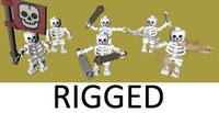 lego skeleton army rigged 3d 3ds