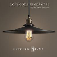 Chandelier_Loft Cone Pendant 36