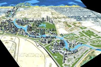3d dubai business bay model
