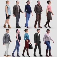 3D Human Model Vol.1 Walking People
