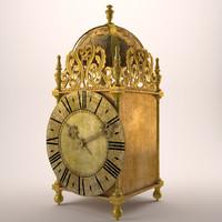 18th clock 3d model